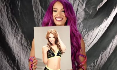 Sasha banks react to see her first picture