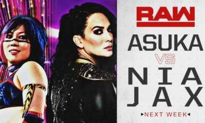 Asuka will face Nia Jax next week on Monday Night RAW