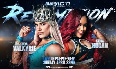 Taya Valkyrie vs. Kiera Hogan Added to Impact Wrestling Redemption 2018