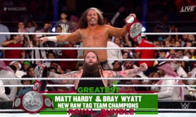 Bray Wyatt and Matt Hardy Become the New RAW Tag Team Champions in Greatest Royal Rumble