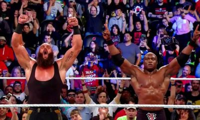 Bobby Lashley Gives his Hand to Braun Strowman against The Shield