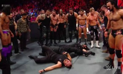 The Shield is Attacked by the Monday Night Raw Roster