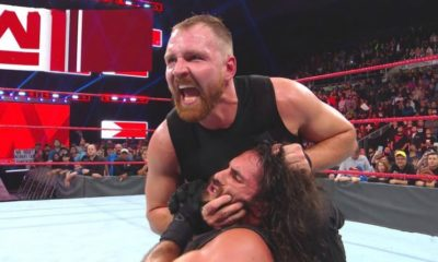 Dean Ambrose Attacks Seth Rollins after becoming Tag Team Champions