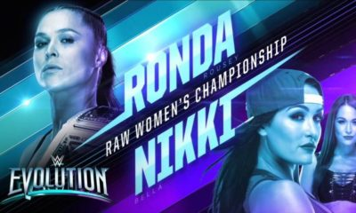 Ronda Rousey will Defend the RAW Women's Championship Against Nikki Bella in WWE Evolution
