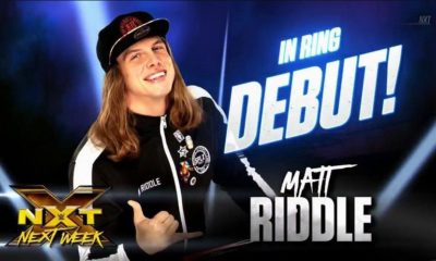 Matt Riddle will make his debut on the NXT next week