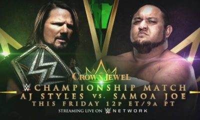 WWE Crown Jewel: AJ Styles and Samoa Joe will fight for the WWE Championship