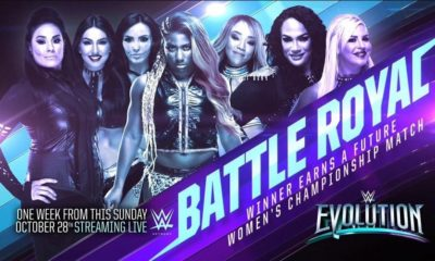 A Battle Royal announced for the Evolution PPV during Monday Night Raw