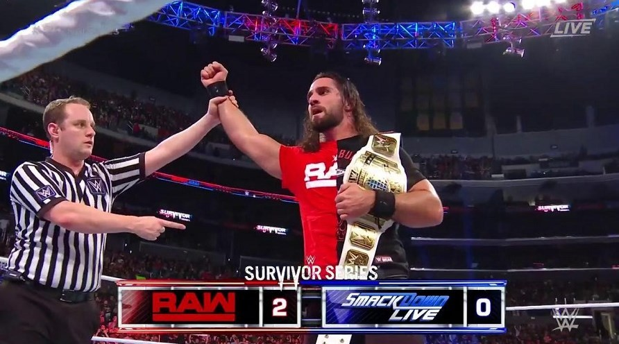 Seth Rollins defeats Shinsuke Nakamura at WWE Survivor Series 2018