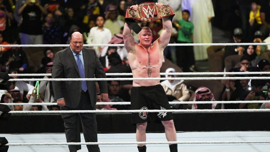Brock Lesnar signed a new agreement with WWE until WrestleMania 35