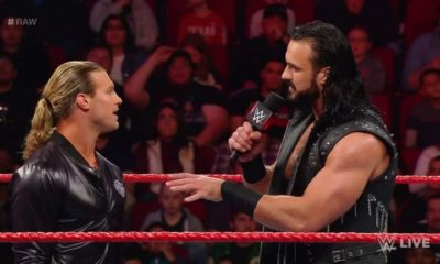 Dolph Ziggler attacks Drew McIntyre during Monday Night Raw