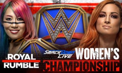 Asuka will defend the SmackDown Women's Title against Becky Lynch at WWE Royal Rumble 2019