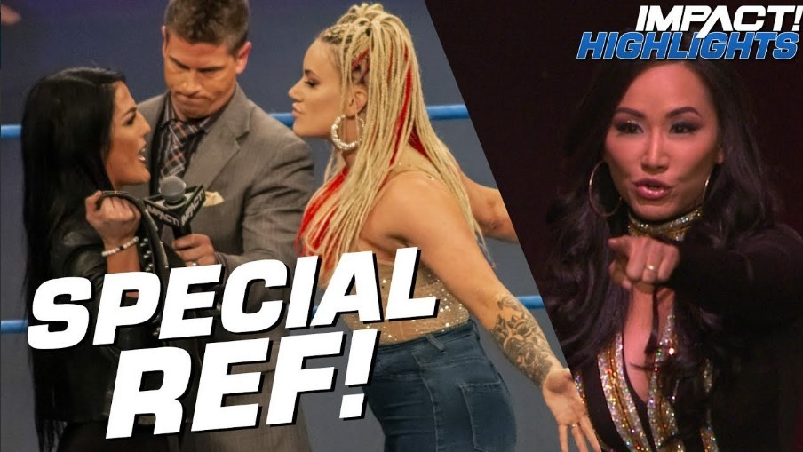 Gail Kim will be Referee for the Knockouts Championship match at Impact Homecoming