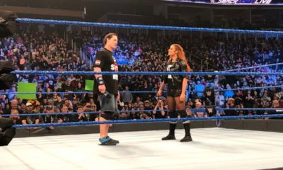 John Cena makes his return to WWE during SmackDown Live tapings
