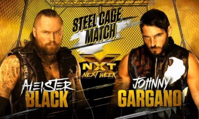 Aleister Black will face Johnny Gargano in a Steel Cage at WWE NXT Next Week