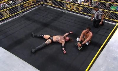 Johnny Gargano beats Aleister Black in a Steel Cage match during WWE NXT
