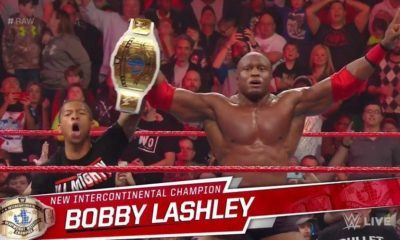 Bobby Lashley becomes the new Intercontinental champion during Monday Night Raw