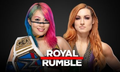 Becky Lynch will face Asuka for the SmackDown Women's Championship at Royal Rumble 2019
