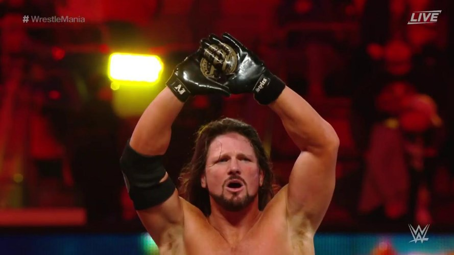 AJ Styles defeats Randy Orton at WrestleMania 35